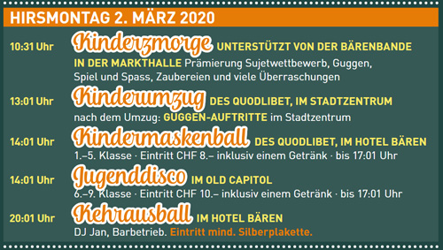 Fasnacht Langenthal 2.3.2020