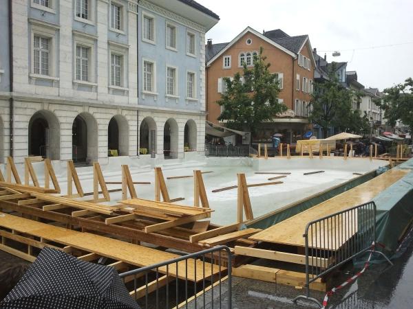 Beginn Aufbau am 14. Juni 2011 Bild vom 18.6.