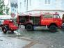 Die Feuerwehr Langenthal in Aktion; der See wird am Mittwoch Abend gefüllt