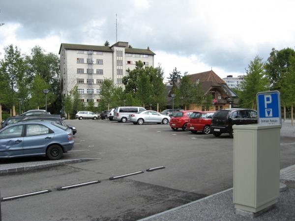 Der erweiterte Parkplatz nahe der Alten Mühle ist fertig