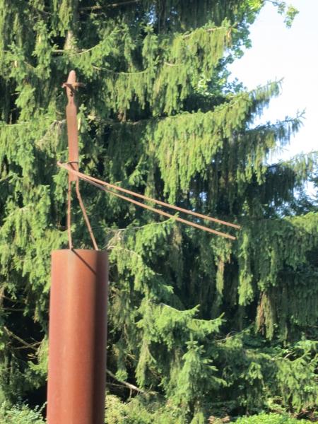 Schang Hutters Skulptur (von UZ)