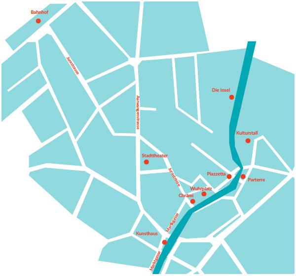Plan Orte in Langenthal