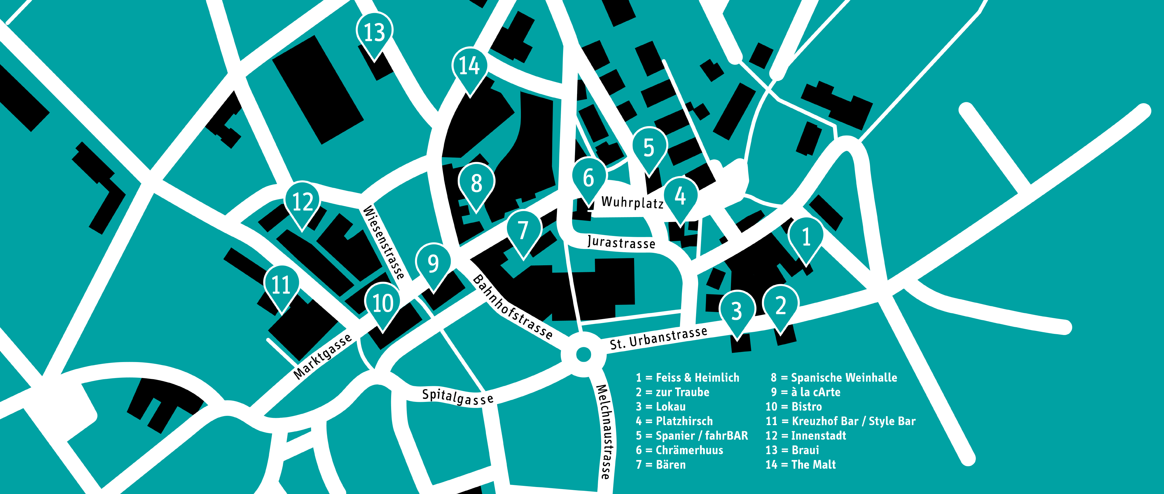 streetfestival 2019 Langenthal map